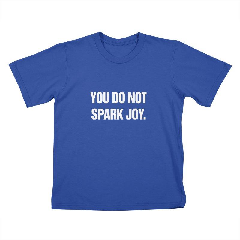 "SIDE EYE/""Spark Joy"" (White) Kids T-Shirt by Josh Sabarra's Shop"