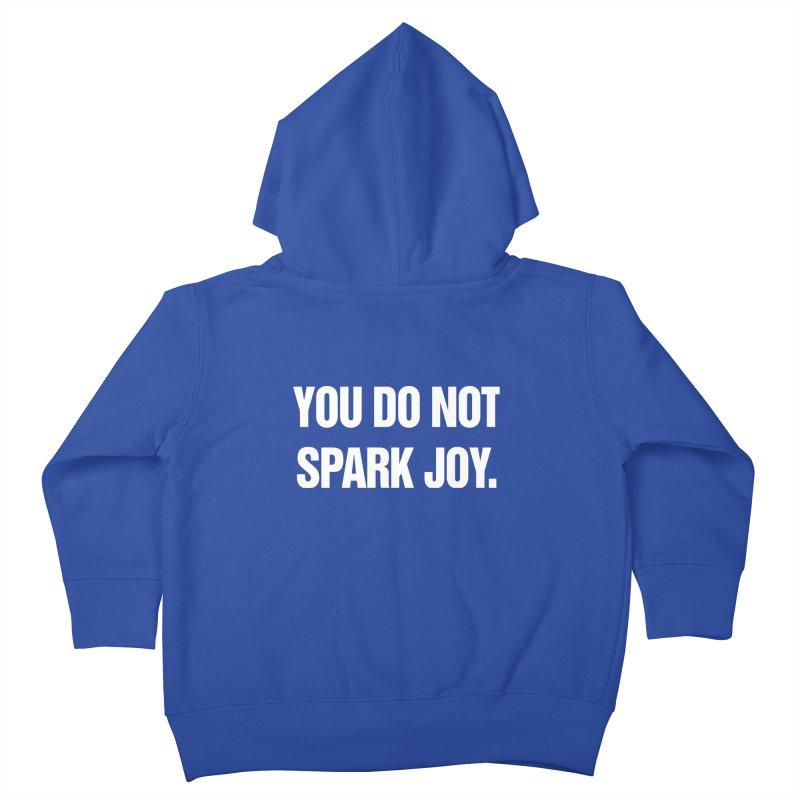"SIDE EYE/""Spark Joy"" (White) Kids Toddler Zip-Up Hoody by Josh Sabarra's Shop"