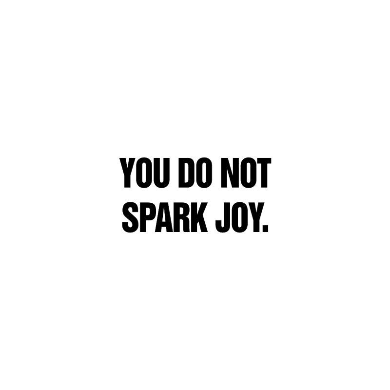 "SIDE EYE/""Spark Joy"" (Black) by Josh Sabarra's Shop"