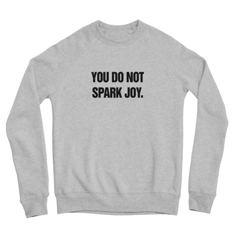 """SIDE EYE/""""Spark Joy"""" (Black) Women's Sponge Fleece Sweatshirt by Josh Sabarra's Shop"""
