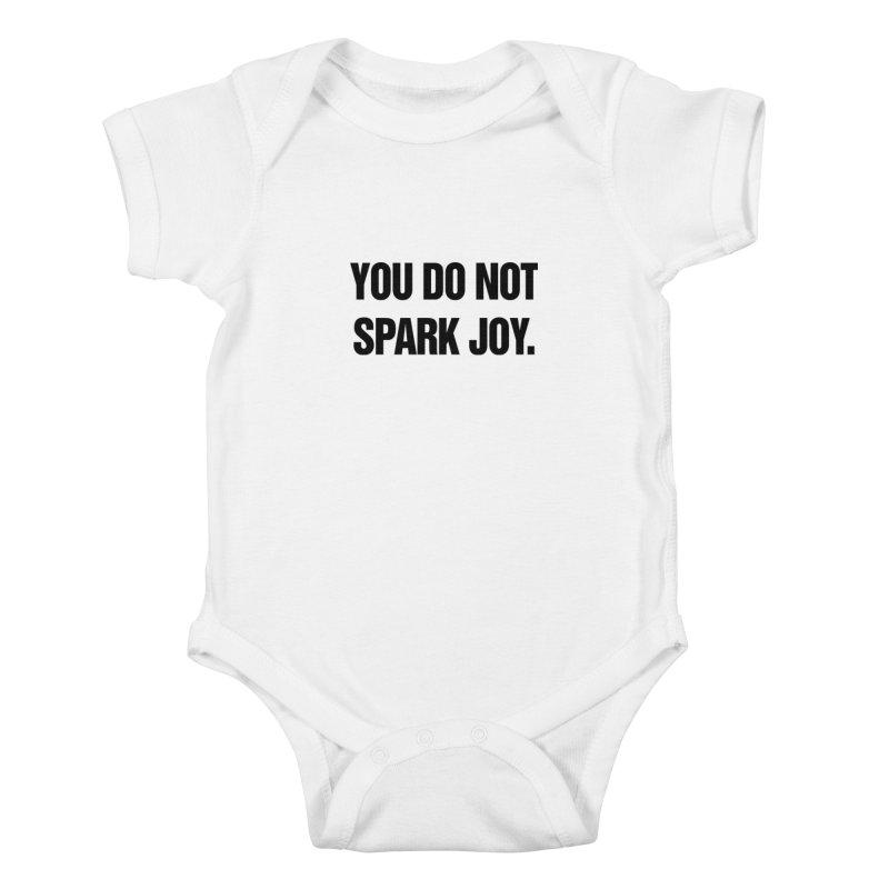 "SIDE EYE/""Spark Joy"" (Black) Kids Baby Bodysuit by Josh Sabarra's Shop"