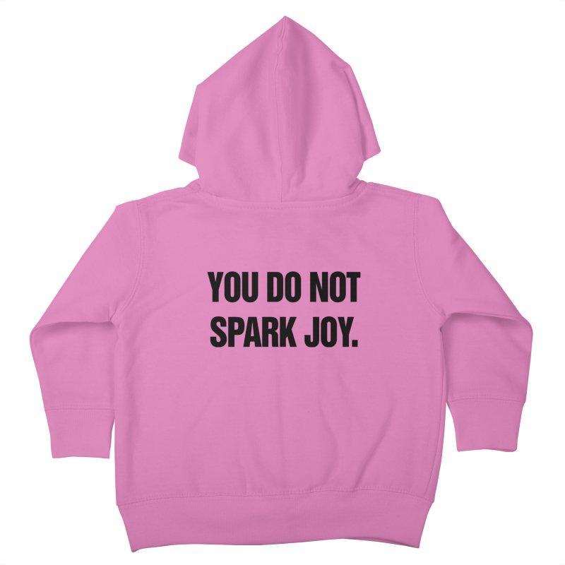 "SIDE EYE/""Spark Joy"" (Black) Kids Toddler Zip-Up Hoody by Josh Sabarra's Shop"