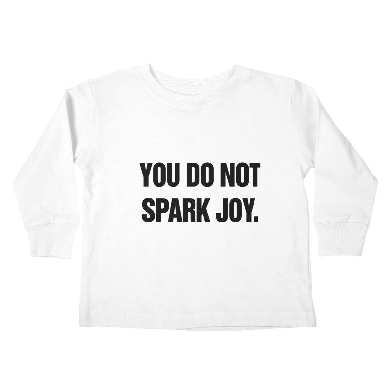 "SIDE EYE/""Spark Joy"" (Black) Kids Toddler Longsleeve T-Shirt by Josh Sabarra's Shop"
