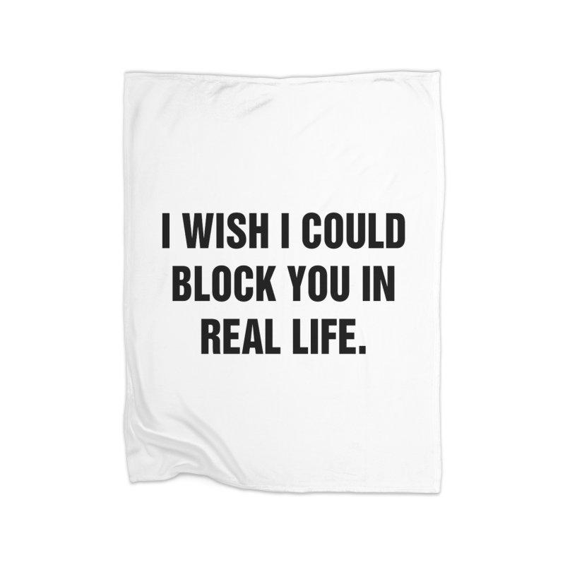 "SIDE EYE/""Blocked"" (Black) Home Blanket by Josh Sabarra's Shop"