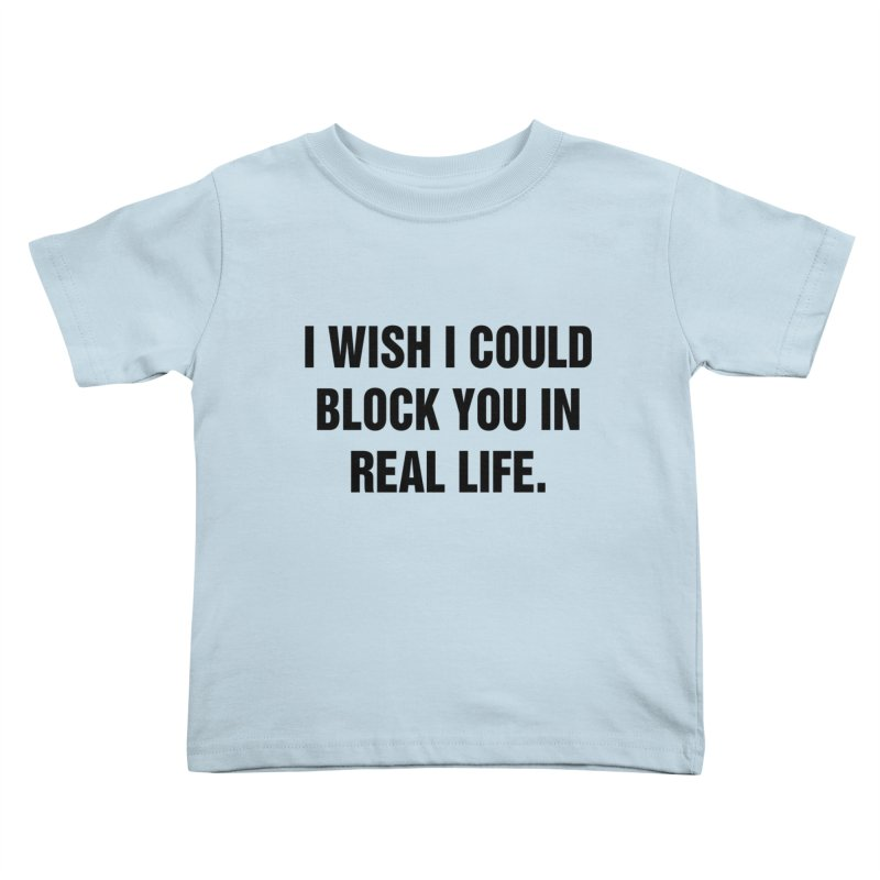 "SIDE EYE/""Blocked"" (Black) Kids Toddler T-Shirt by Josh Sabarra's Shop"