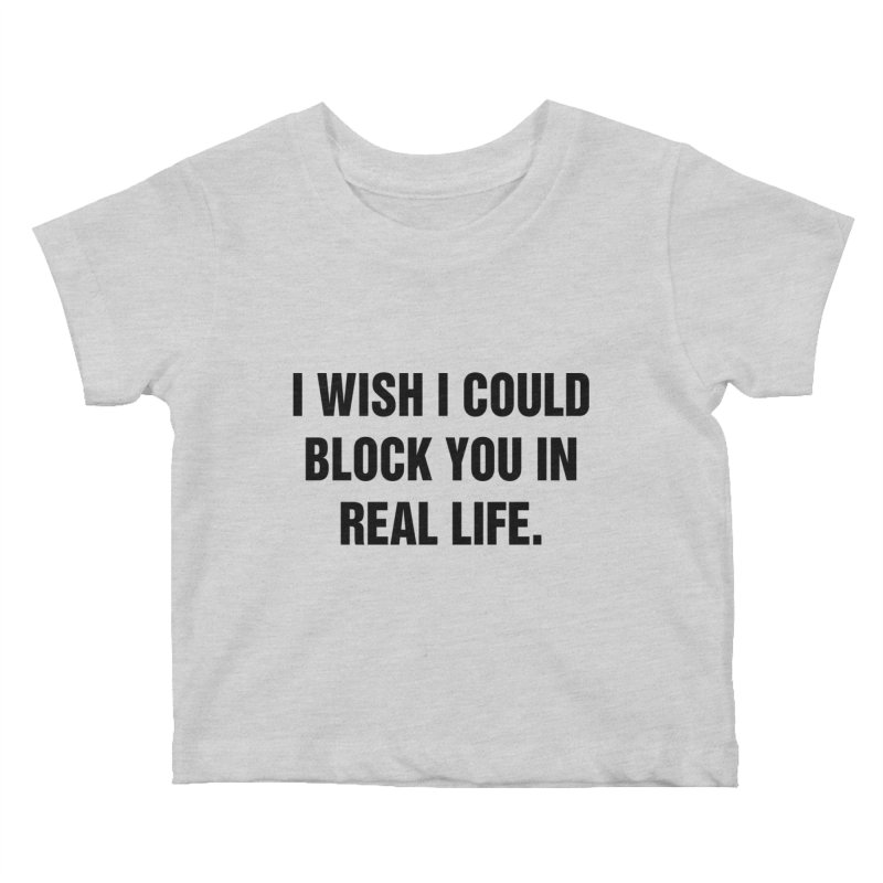 "SIDE EYE/""Blocked"" (Black) Kids Baby T-Shirt by Josh Sabarra's Shop"