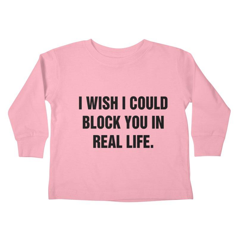 "SIDE EYE/""Blocked"" (Black) Kids Toddler Longsleeve T-Shirt by Josh Sabarra's Shop"