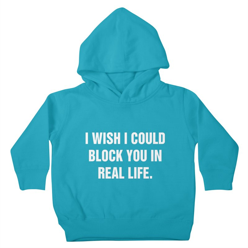 "SIDE EYE/""Blocked"" (White) Kids Toddler Pullover Hoody by Josh Sabarra's Shop"