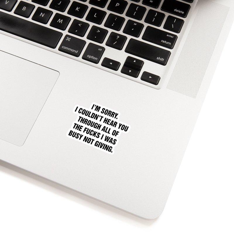 "SIDE EYE/""No Fucks"" (Black) Accessories Sticker by Josh Sabarra's Shop"