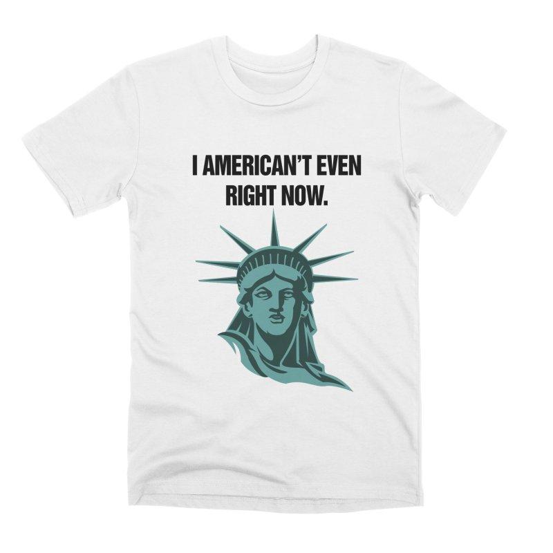 """SIDE EYE/""""American't"""" (Black) Men's T-Shirt by Josh Sabarra's Shop"""