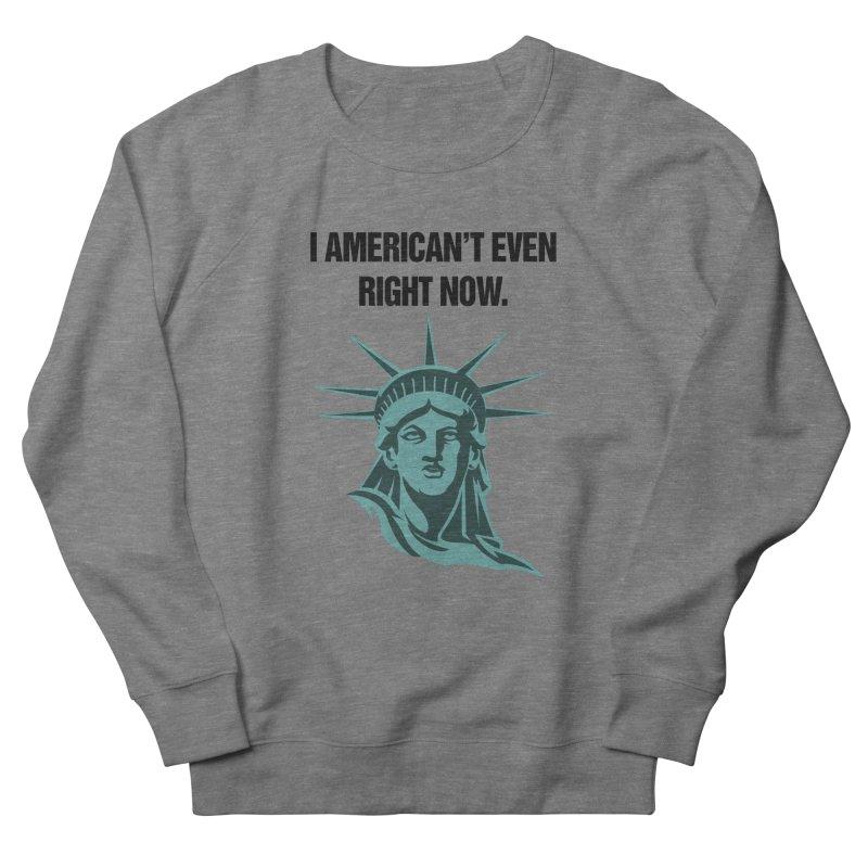 """SIDE EYE/""""American't"""" (Black) Men's Sweatshirt by Josh Sabarra's Shop"""