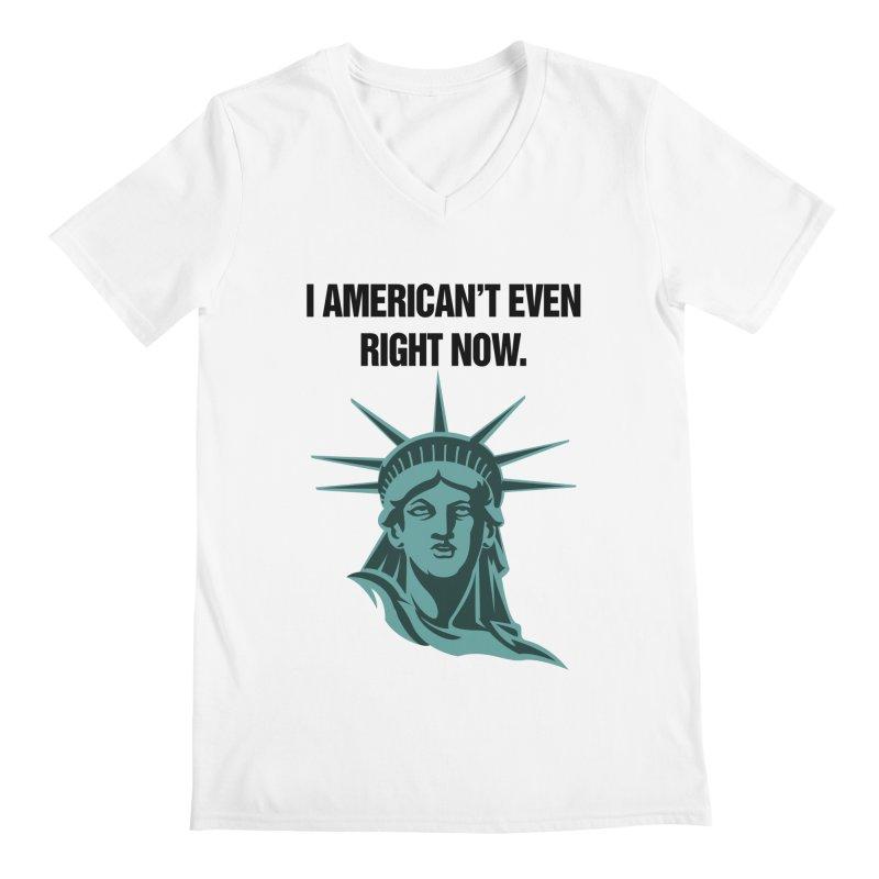 "SIDE EYE/""American't"" (Black) Men's V-Neck by Josh Sabarra's Shop"