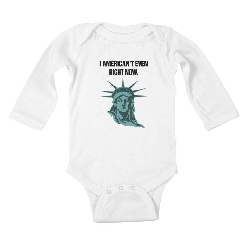"""SIDE EYE/""""American't"""" (Black) Kids Baby Longsleeve Bodysuit by Josh Sabarra's Shop"""