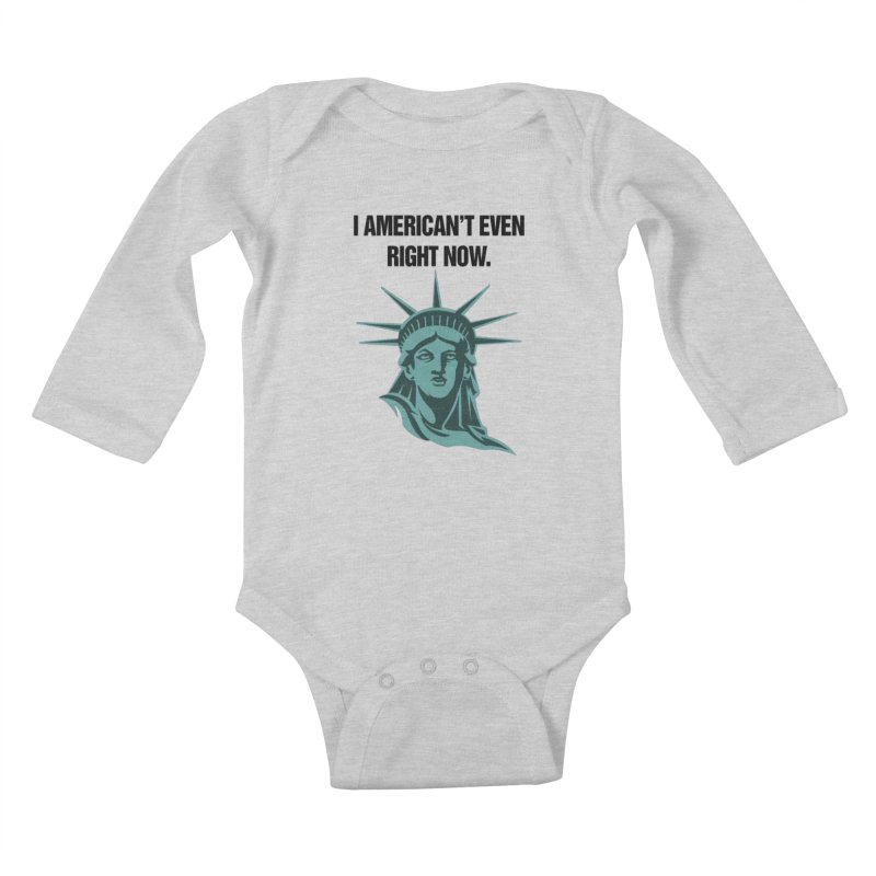 "SIDE EYE/""American't"" (Black) Kids Baby Longsleeve Bodysuit by Josh Sabarra's Shop"