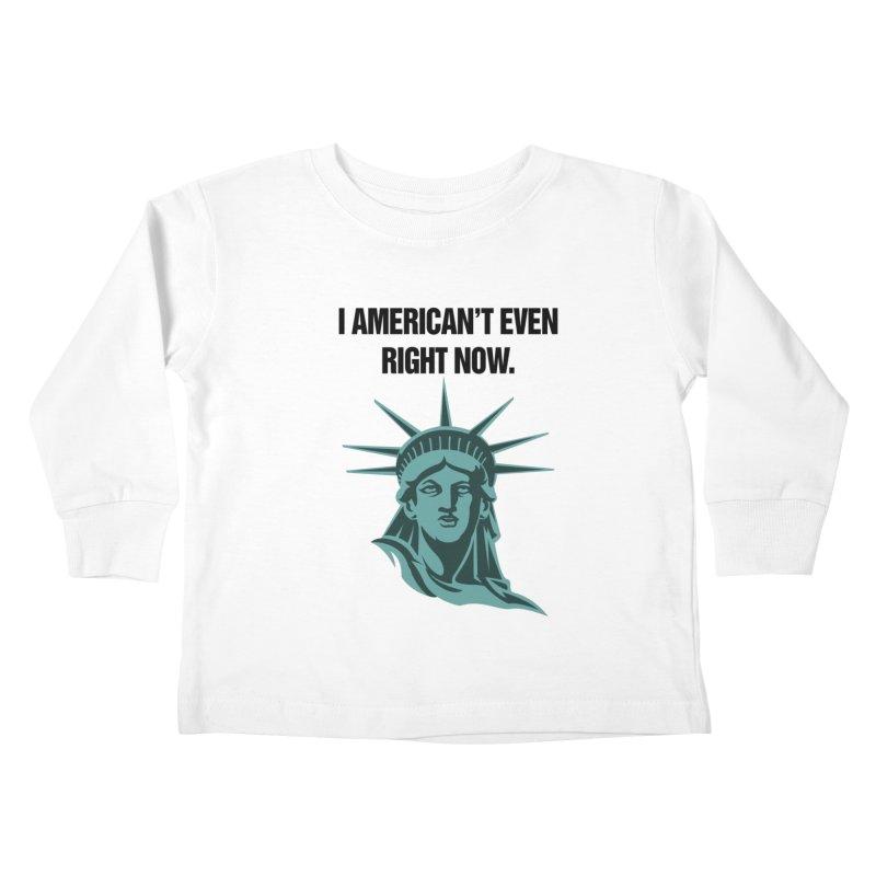 "SIDE EYE/""American't"" (Black) Kids Toddler Longsleeve T-Shirt by Josh Sabarra's Shop"
