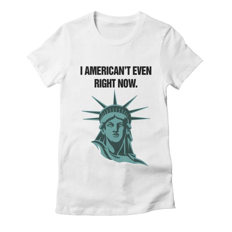 """SIDE EYE/""""American't"""" (Black) Women's T-Shirt by Josh Sabarra's Shop"""