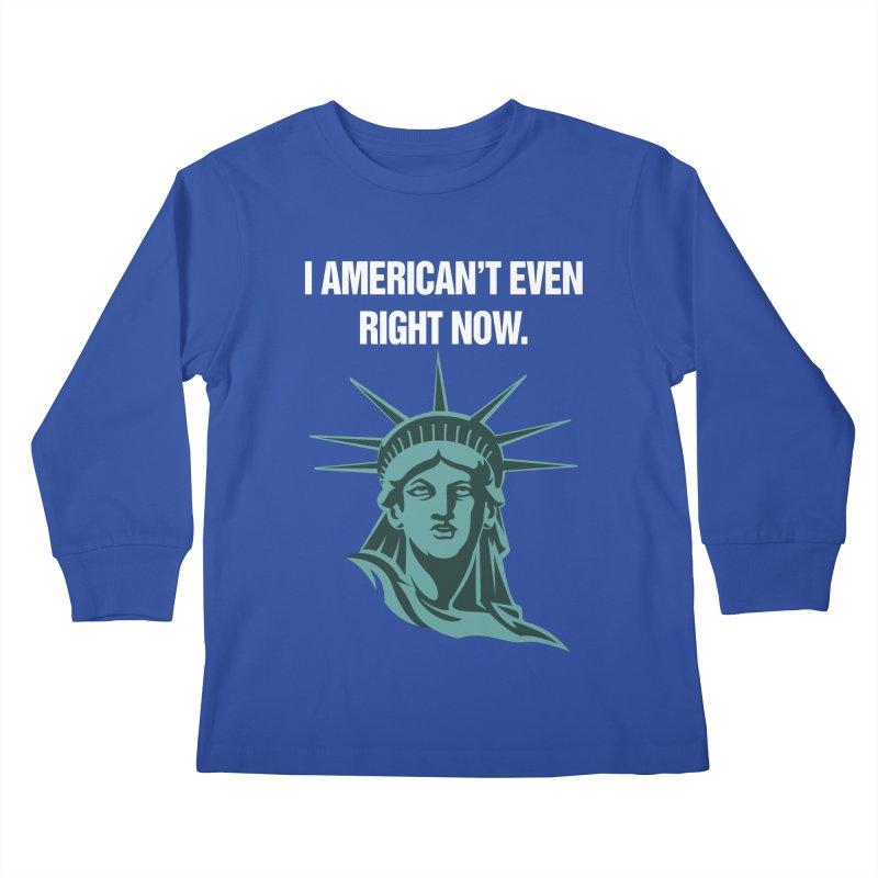 """SIDE EYE/""""American't"""" (White) Kids Longsleeve T-Shirt by Josh Sabarra's Shop"""