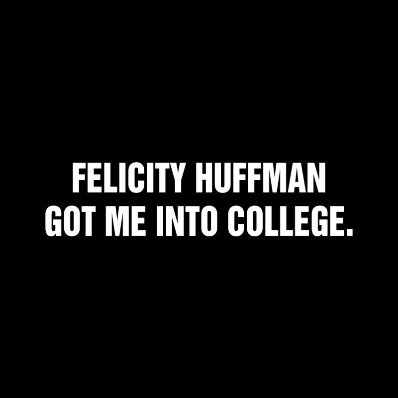 "SIDE EYE/""Felicity Huffman"" (White) by Josh Sabarra's Shop"