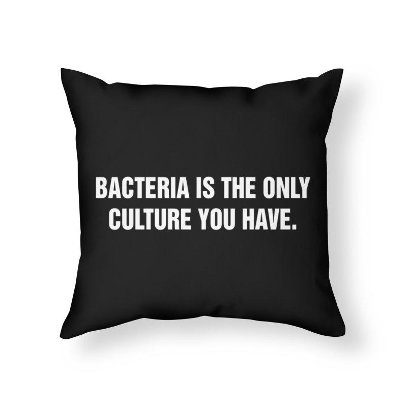 "SIDE EYE/""Bacteria"" (White) Home Throw Pillow by Josh Sabarra's Shop"