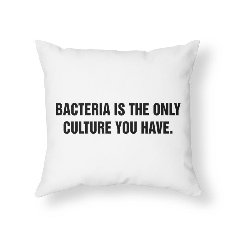 "SIDE EYE/""Bacteria"" (Black) Home Throw Pillow by Josh Sabarra's Shop"