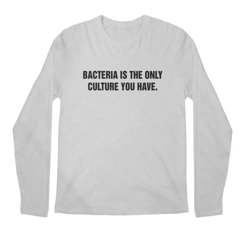 "SIDE EYE/""Bacteria"" (Black) Men's Regular Longsleeve T-Shirt by Josh Sabarra's Shop"