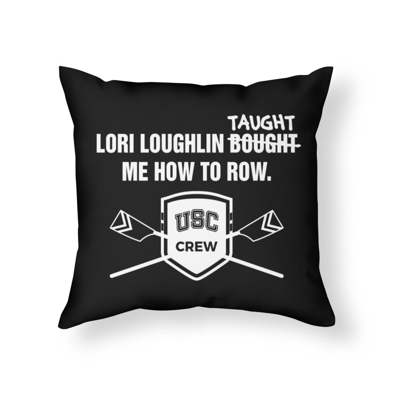 "SIDE EYE/""Lori Loughlin Crew"" (White) Home Throw Pillow by Josh Sabarra's Shop"