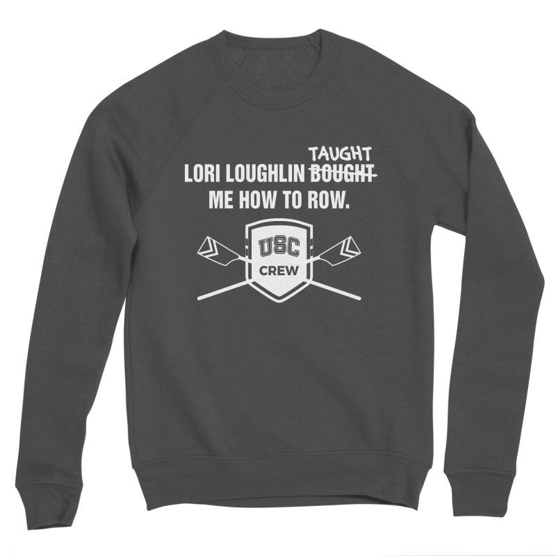 """SIDE EYE/""""Lori Loughlin Crew"""" (White) Men's Sponge Fleece Sweatshirt by Josh Sabarra's Shop"""