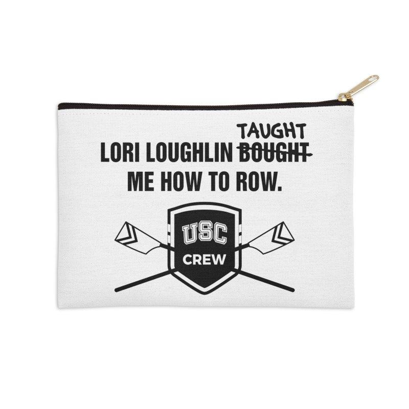 "SIDE EYE/""Lori Loughlin Crew"" (Black) Accessories Zip Pouch by Josh Sabarra's Shop"