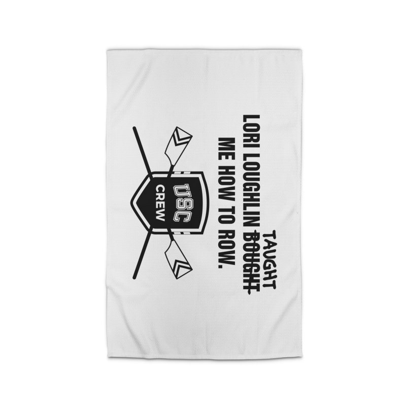 "SIDE EYE/""Lori Loughlin Crew"" (Black) Home Rug by Josh Sabarra's Shop"
