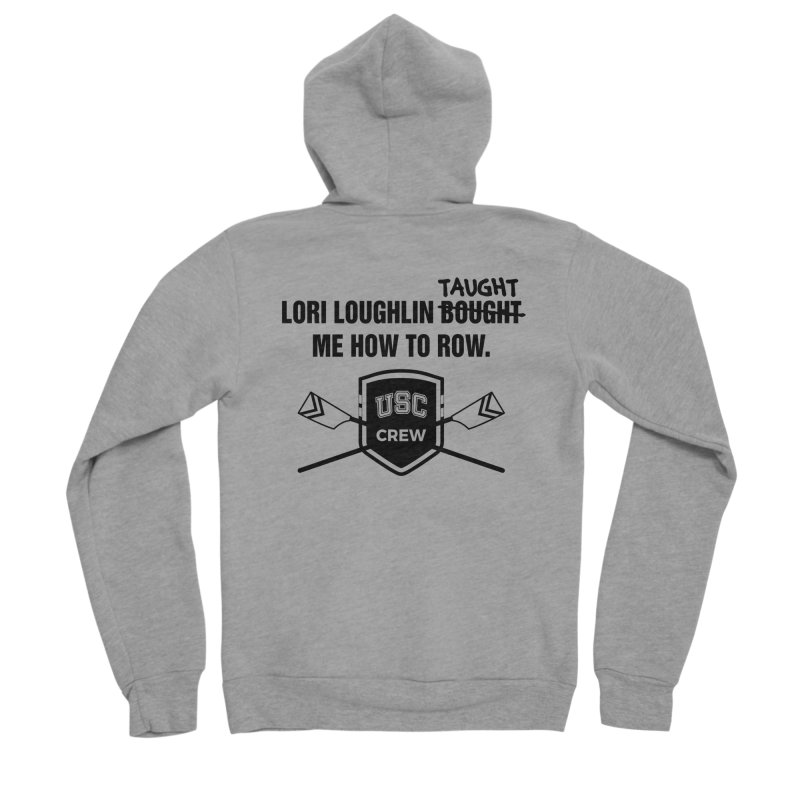 """SIDE EYE/""""Lori Loughlin Crew"""" (Black) Women's Sponge Fleece Zip-Up Hoody by Josh Sabarra's Shop"""