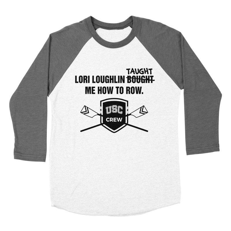 "SIDE EYE/""Lori Loughlin Crew"" (Black) Women's Baseball Triblend Longsleeve T-Shirt by Josh Sabarra's Shop"