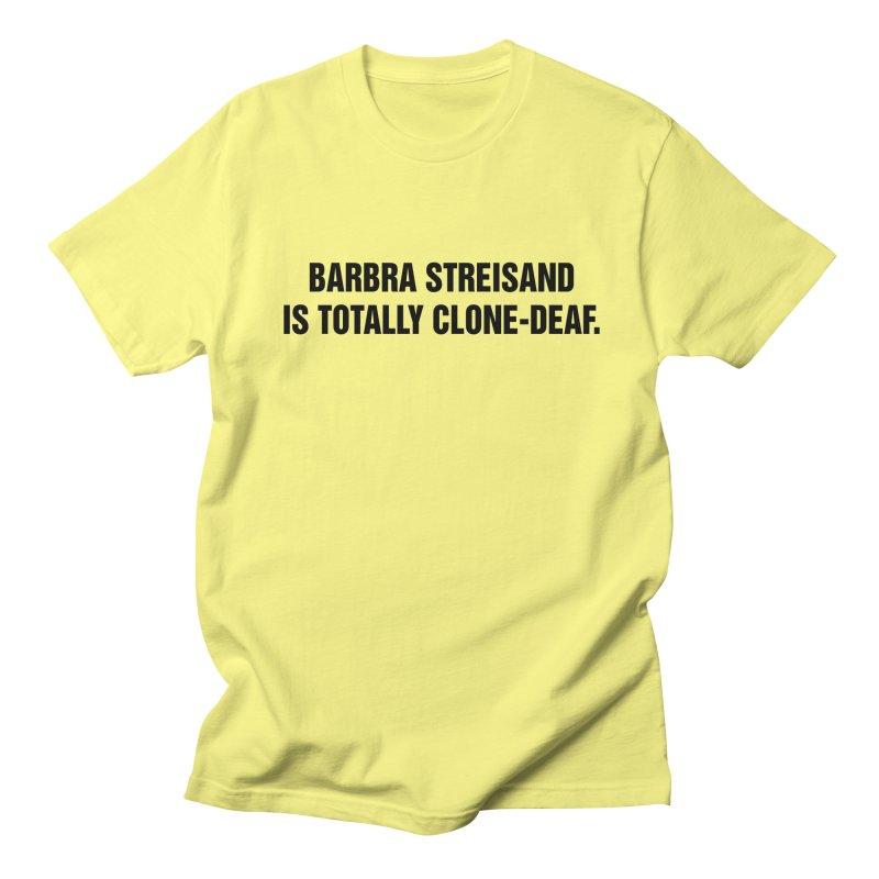 "SIDE EYE/""Clone-Deaf"" (Black) Men's Regular T-Shirt by Josh Sabarra's Shop"