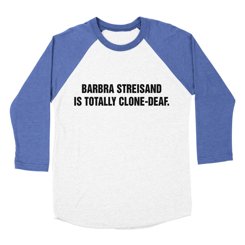 "SIDE EYE/""Clone-Deaf"" (Black) Men's Baseball Triblend Longsleeve T-Shirt by Josh Sabarra's Shop"