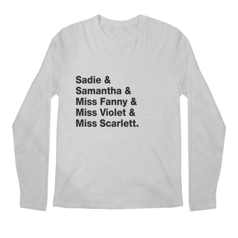 "SIDE EYE/""Streisand's Dogs"" (Black) Men's Regular Longsleeve T-Shirt by Josh Sabarra's Shop"