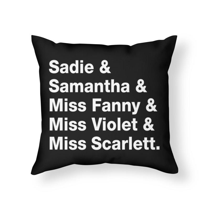 "SIDE EYE/""Streisand's Dogs"" (White) Home Throw Pillow by Josh Sabarra's Shop"