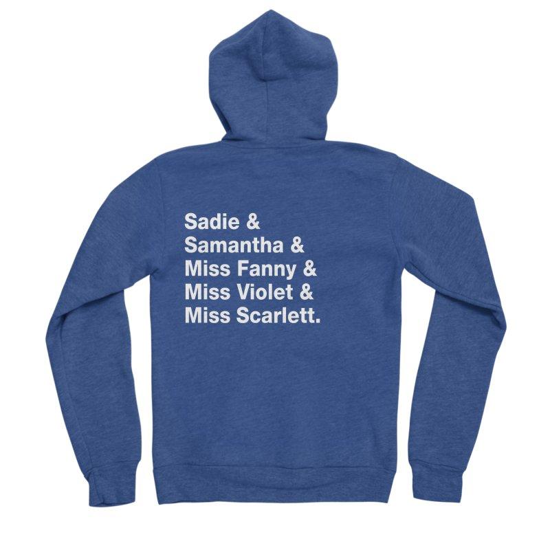 """SIDE EYE/""""Streisand's Dogs"""" (White) Women's Sponge Fleece Zip-Up Hoody by Josh Sabarra's Shop"""