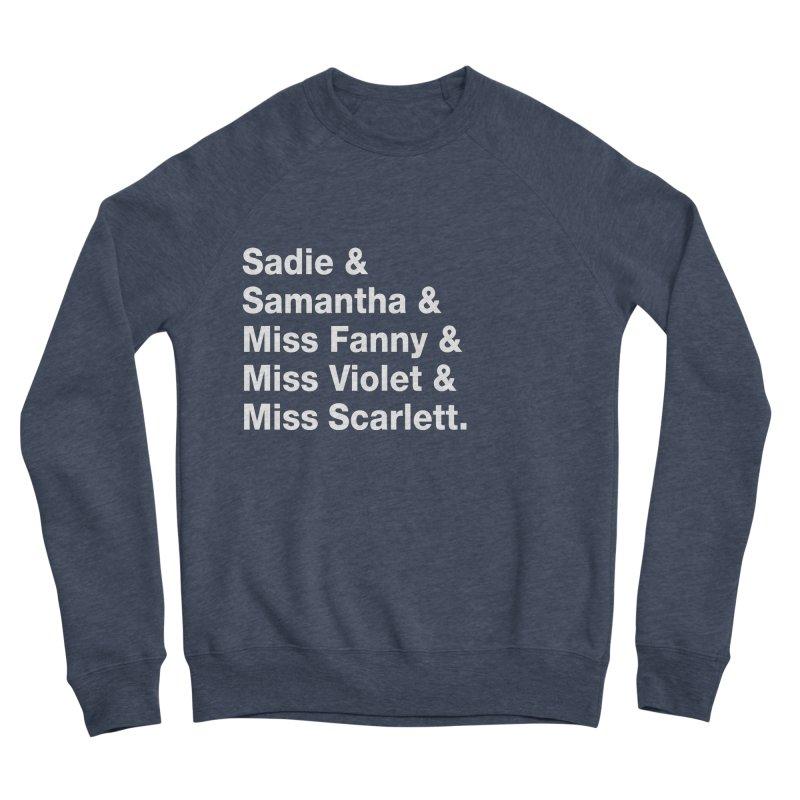 """SIDE EYE/""""Streisand's Dogs"""" (White) Men's Sponge Fleece Sweatshirt by Josh Sabarra's Shop"""