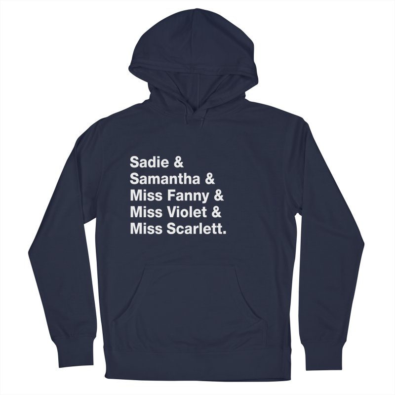 "SIDE EYE/""Streisand's Dogs"" (White) Women's French Terry Pullover Hoody by Josh Sabarra's Shop"