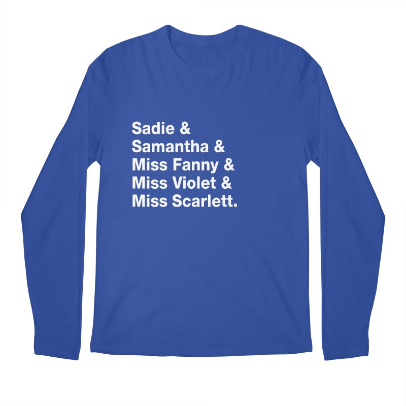 "SIDE EYE/""Streisand's Dogs"" (White) Men's Regular Longsleeve T-Shirt by Josh Sabarra's Shop"