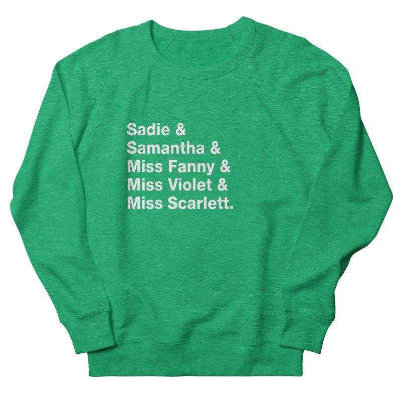 "SIDE EYE/""Streisand's Dogs"" (White) Women's French Terry Sweatshirt by Josh Sabarra's Shop"