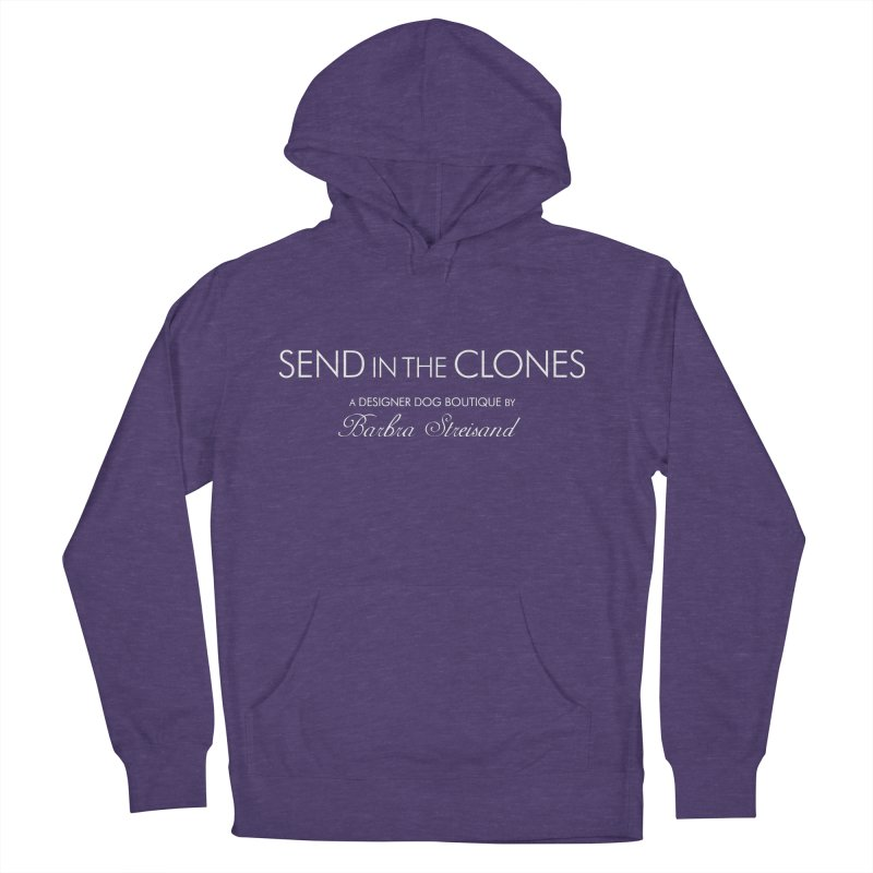 """SIDE EYE/""""Send In The Clones"""" (White) Men's French Terry Pullover Hoody by Josh Sabarra's Shop"""