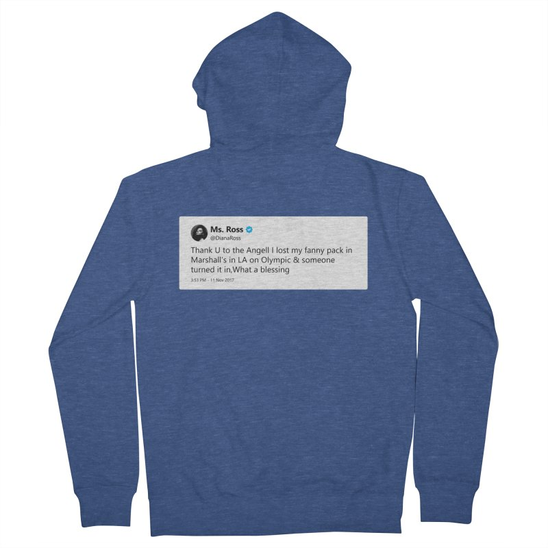 """TweetSHIRT/""""Diana Ross at Marshall's"""" Men's French Terry Zip-Up Hoody by Josh Sabarra's Shop"""