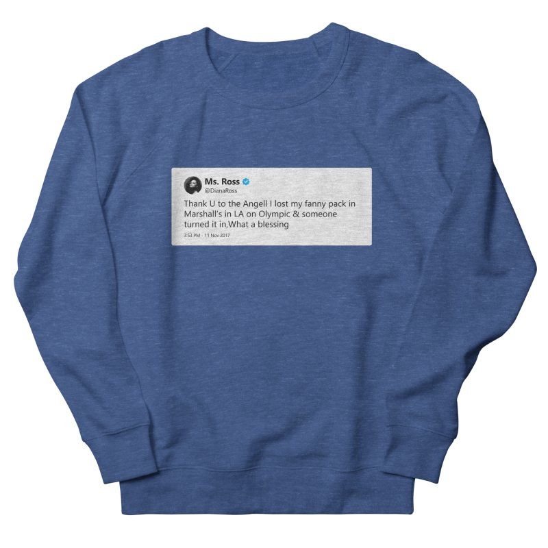 "TweetSHIRT/""Diana Ross at Marshall's"" Men's French Terry Sweatshirt by Josh Sabarra's Shop"