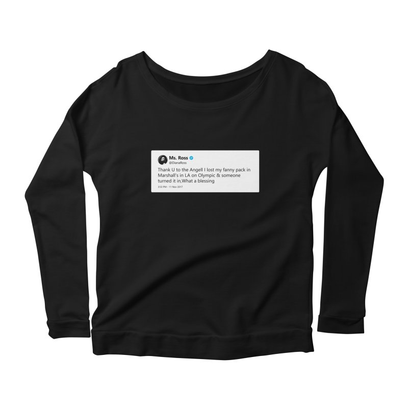 "TweetSHIRT/""Diana Ross at Marshall's"" Women's Scoop Neck Longsleeve T-Shirt by Josh Sabarra's Shop"