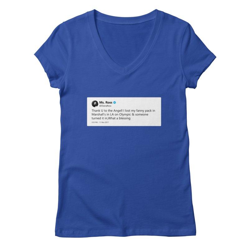 """TweetSHIRT/""""Diana Ross at Marshall's"""" Women's Regular V-Neck by Josh Sabarra's Shop"""