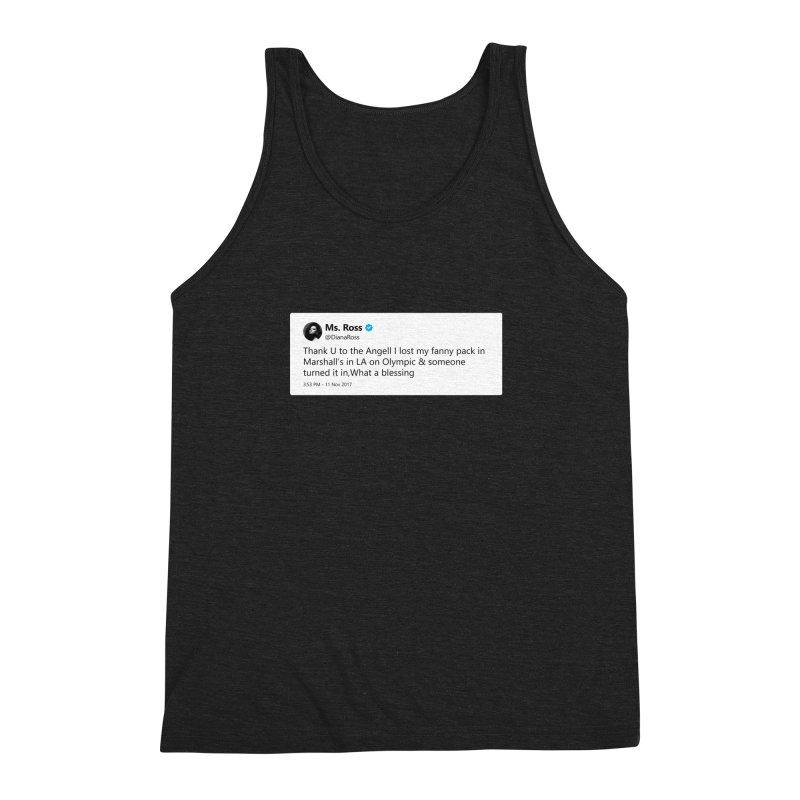 "TweetSHIRT/""Diana Ross at Marshall's"" Men's Triblend Tank by Josh Sabarra's Shop"