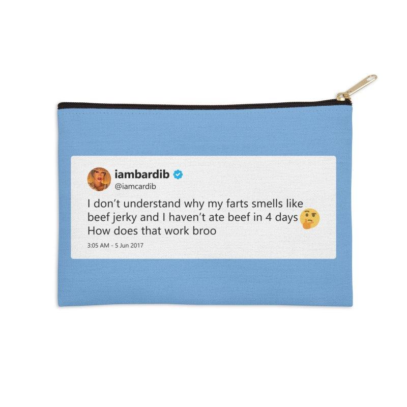 """TweetSHIRT/""""Cardi Beef Jerky"""" Accessories Zip Pouch by Josh Sabarra's Shop"""