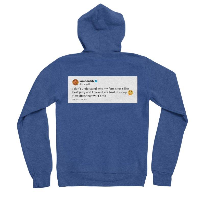 """TweetSHIRT/""""Cardi Beef Jerky"""" Women's Sponge Fleece Zip-Up Hoody by Josh Sabarra's Shop"""