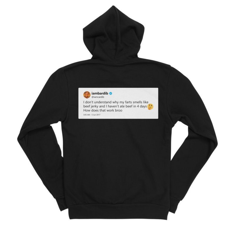 "TweetSHIRT/""Cardi Beef Jerky"" Men's Sponge Fleece Zip-Up Hoody by Josh Sabarra's Shop"
