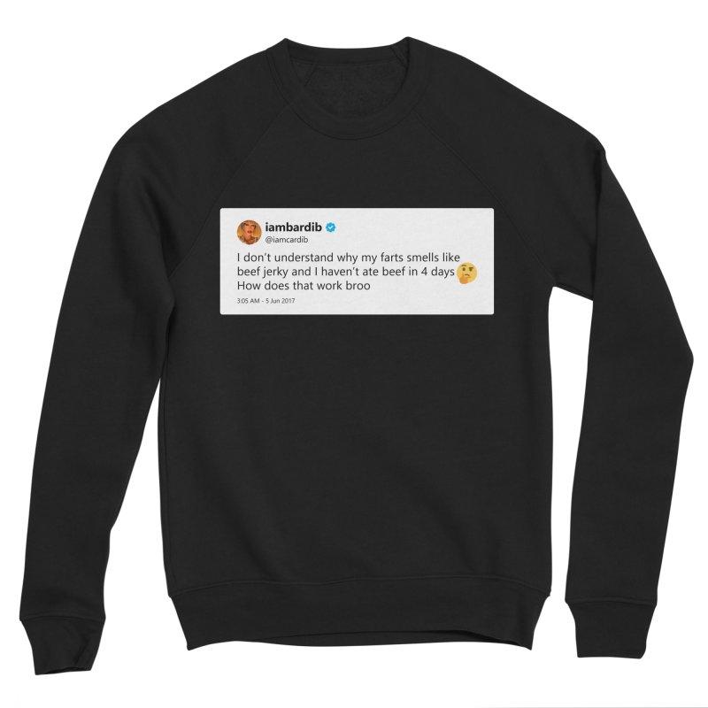 """TweetSHIRT/""""Cardi Beef Jerky"""" Men's Sponge Fleece Sweatshirt by Josh Sabarra's Shop"""